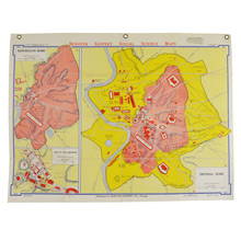 Mid-Century Denoyer-Geppert Map Book of Imperial Rome c1955