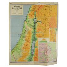 Mid-Century Denoyer-Geppert Map Book of Modern Palestine c1960s