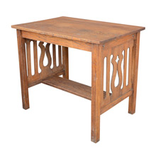 Oak Arts & Crafts Library Table c1915