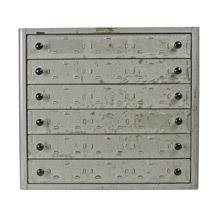 6-Drawer Industrial Parts Cabinet c1940