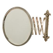 Nickel-Plated Mirror w/ Fleur de Lis Motif c1925
