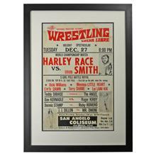 Framed Lucha Libre Wrestling Poster Race v Smith c1960