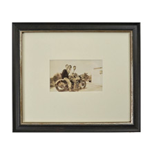 Vintage Framed Photo of Motorcycling Group c1930s