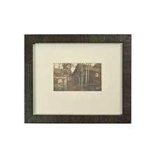 Vintage Framed Photo of Rustic Cabin c1930s