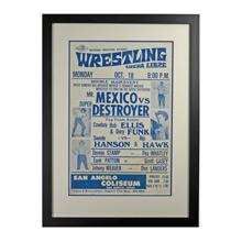 Framed Lucha Libre Wrestling Poster Mr Mexico c1960