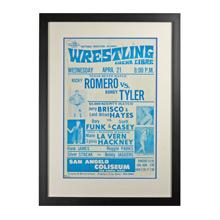 Framed Lucha Libre Wrestling Poster Romero v Tyler c1960