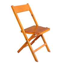 Vintage Red Oak Folding Chair c1940s