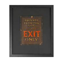Framed Exit Only Sign c1935