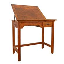 Petite Oak Drafting Desk C1930