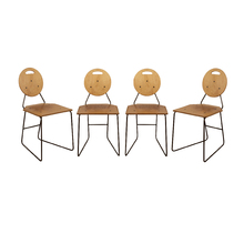 Set of 4 Plywood and Iron Chairs c1965