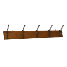 Oak and Cast Iron Hook Rack c1880's