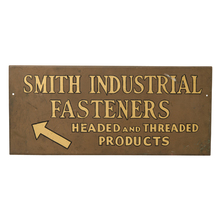 Painted Smith Fasteners Hardware Sign c1920