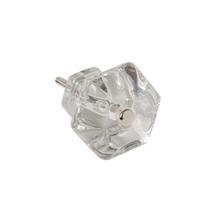 Classic Glass Hexagonal Cabinet Knob c1900
