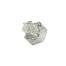 Glass Hexagonal Cabinet Knob c1900