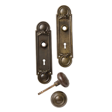 Revival Style Steel Door Knobs Set c1905