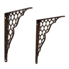 Set of Cast Iron Victorian Shelf Brackets c1885