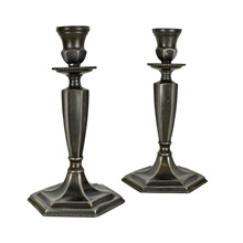 Pair of Traditional Colonial Revival Candlestick Holders c1925