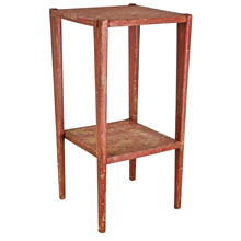 Perfectly Primitive Red Side Table c1920s