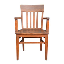Solid Oak Library Chair c1935