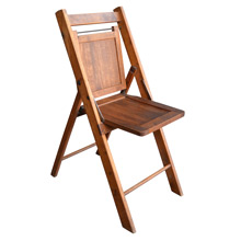 Vintage Slatted Folding Chair in Maple c1940s