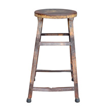 Rustic Metal Kitchen Stool c1920