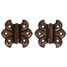 Pair of Japanned Copper Butterfly Hinges c1900