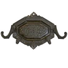 Ornate Cast Iron Hook Rack c1895