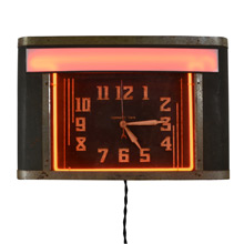 Vintage Correct Time Neon Clock c1930s