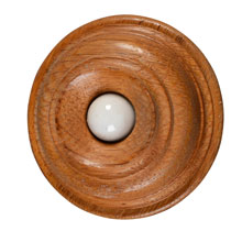 EARLY OAK and PORCELAIN PUSHBUTTON c1900