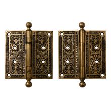 Pair of Large Bronze Door Hinges c1880s