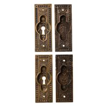Set of Victorian Bronze Pocket Door Pulls c1880s