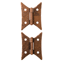 Pair of Copper Plated Butterfly Hinges by McKinney c1950s