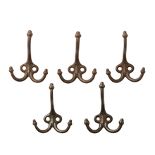 Set of 5 Triple Acorn Hooks c1910