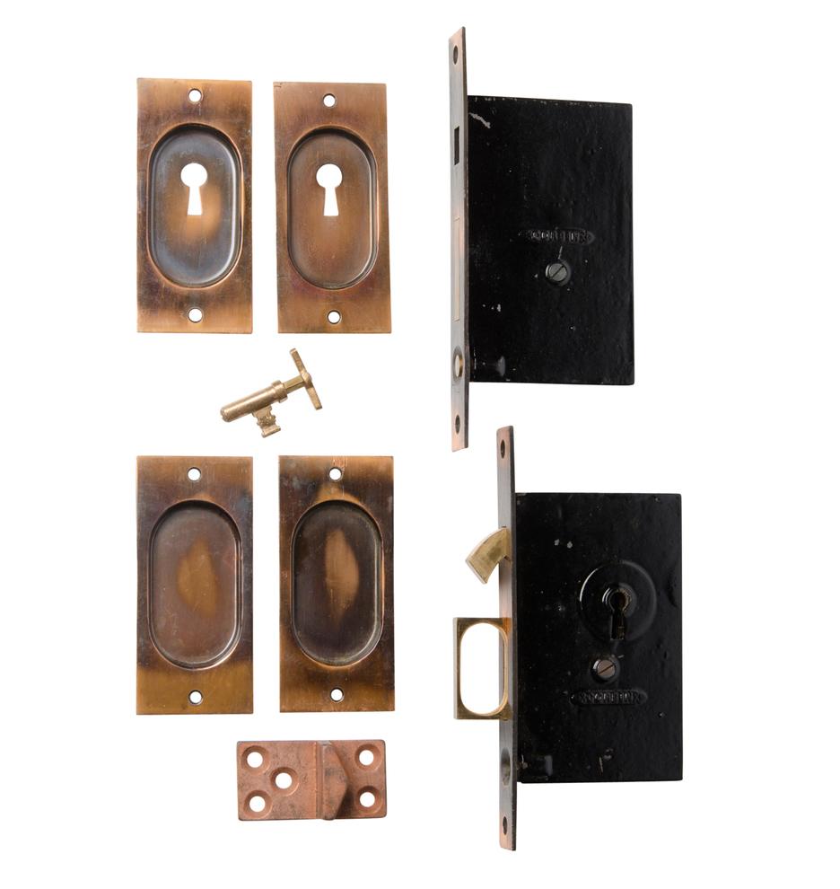 Crystal door knobs on french doors - Complete Set Of Corbin Pocket Door Hardware