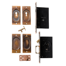 Complete Set of Corbin Pocket Door Hardware c1910