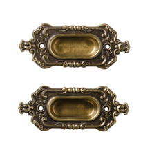 Pair of NOS Renaissance Revival Sash Lifts by Corbin c1890