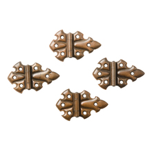 Set of 4 Butterfly Cabinet Hinges c1910