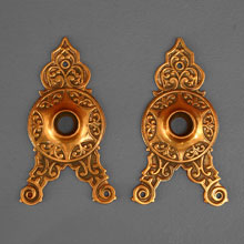Ornate Triangular Escutcheons, c1870
