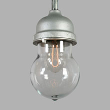 Large Crouse-Hinds Vapor-Proof Iron Pendant, c1950