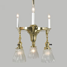 Bright Brass Combination Sheffield Fixture, c1912