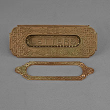 Bronze Mail Slot, c1890