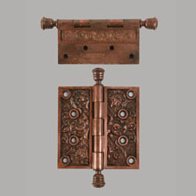 "Pair 4-1/2"" Hinges in Columbian Pattern by Reading, c1895"