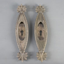 "Pair of ""Marquise"" Pattern Pocket Door Pulls, c1895"