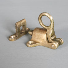 Nickel-Plated Brass Transom Latch w/Strike, c1920