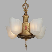 Markel 5-Light Chandelier w/Traditional Styling, c1932