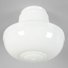 "White Streamline 4"" Kitchen or Bath Shade, c1935"