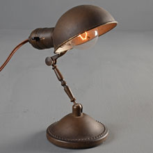 "Adjustable/Collapsible ""Handilamp"" Metal Desk Light, c1935"