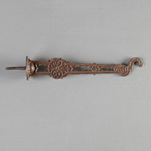 Cast Iron Bird Cage Hook w/Integral Screw, c1875