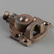 Cast Iron Spring-Style Sash Lock, Pat. 1879