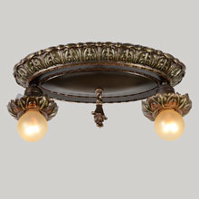 Blooming Bare Bulb Ceiling Pan, c1925